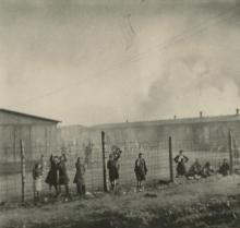 Agfa Lupex Silver Photo Jews at German Concentration Camp, 1940's