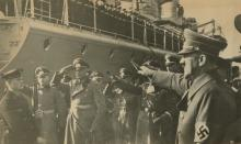 Silver Photo, Hitler salutes Marine, Russian Archives 1940's
