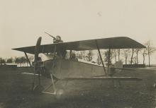 Very Rare Iconic Original Press Silver Biplane War WWI, 1918