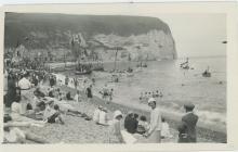 Agfa Lupex Silver Photo, European Beach WWII Era, 1940's