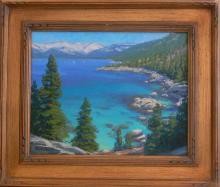 Charles Muench (1966 - ) Oil - Lake Tahoe California