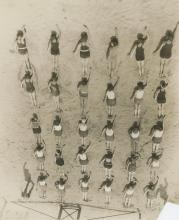 Silver gelatin Long Beach CA Swimming Excercises 1930