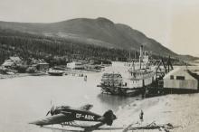 Silver Gelatin Modern airplane in Alaska, 1934