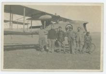 Antique Photo airplane French crew, 1900's