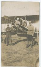Antique Photo French airplane pilots, 1900's