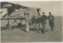 Antique Photo French airplane crew, 1900's
