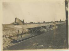 Antique Photo French airplane crash, 1930's