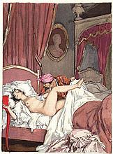 Auguste Leroux, Erotic Print 1932, Serie Casanova