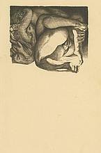 Rare Antique Modernist Erotic Engraving