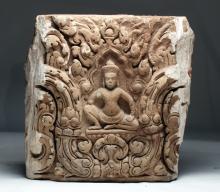 Khmer / Baphuon Sandstone Lintel -  Krishna