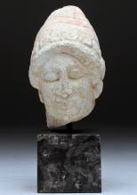 Cypriot Limestone Bust of Kore, ex-Sotheby's