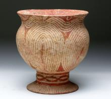 Large Ban Chiang Decorated Pottery Vessel