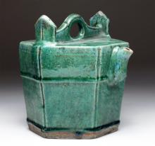 Chinese Qing Dynasty Glazed Shiwan Teapot