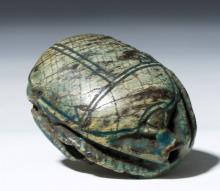 Rare Egyptian Steatite Royal Scarab - Tuthmosis III