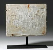 Roman Marble Funerary Plaque, x-Sotheby's, x-Christie's