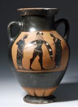 Greek Attic Belly Amphora - Achilles, ex-Sotheby's
