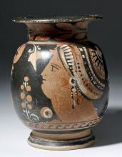 Large Greek Apulian Olpe, Lady of Fashion