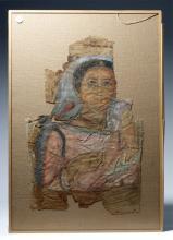 Rare Egyptian Romano (Faiyum) Portrait on Linen