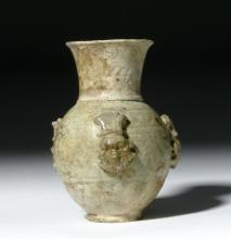 Egyptian Faience Vase: Bes, ex-Sotheby?s