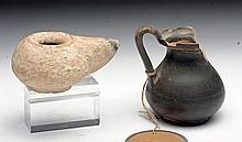Lot of 2 Ancient Terracotta Vessels