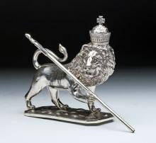 20th C. Bolivian Sterling Silver Lion, 335 gr, Historia