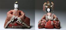 19th C. Japanese Imperial Dolls - Matched Pair