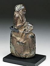 Egyptian Steatite Isis and Horus Sculpture