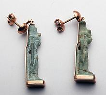 Pr Egyptian Amulets Set in 14kt Gold