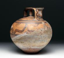 Mycenaean Pottery Stirrup Jar - Unusually Large