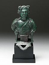 Roman Bronze Bust of Dionysus