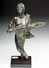 Roman Bronze Figural Oil Lamp