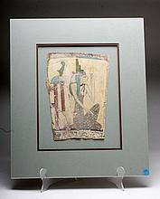 Egyptian Cartonnage Panel - Female Attendant