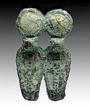 Egyptian Bronze Double Uraeus