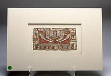 Egyptian Cartonnage Panel - Winged Isis