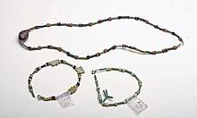 Lot of 3 Egyptian Faience Jewelry Pieces