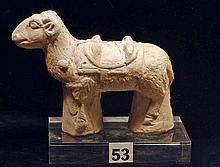 Holy Land Terracotta Sculpture of a Ram, Ex-Moshe Dayan