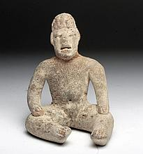 Seated Olmec Terracotta Baby Face Figure