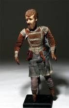20th C. Mexican Wax Doll of a Soldier