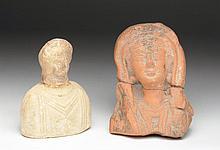 Lot of 2 Roman Terracotta Busts