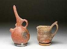 Lot of 2 Cypriot Redware Vessels