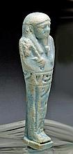 Egyptian Faience Ushabti, Late Kingdom