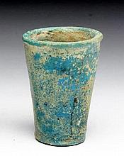 Another Egyptian Blue Faience Kohl Cup