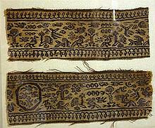 Set of 2 Egyptian Coptic Textiles