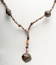Pre-Columbian Copper Ball and Shell Necklace