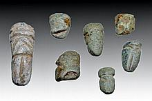 Lot of 7 Miniature Mezcala Stone Figures