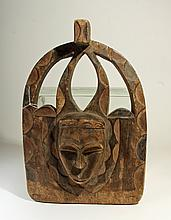 West African Eket Carved Wood Panel