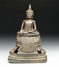 Rare Thai Silver Seated Buddha
