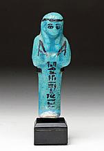 Egyptian Blue Faience Egyptian Ushabti