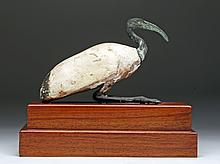 Egyptian Bronze and Wood Ibis Sculpture