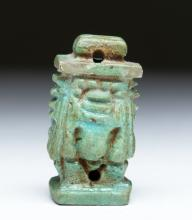 Rare Egyptian Faience Bes Amulet